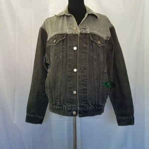 Vintage Wrangler Black Denim Trucker Jacket Rare